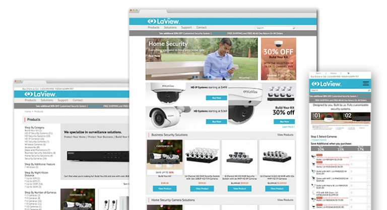 LaView: E-Commerce Website Development