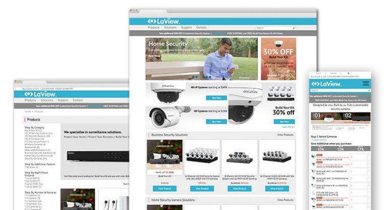 LaView: E-Commerce Website Development