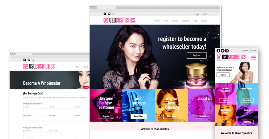 USA Cosmetics Website Re-Design