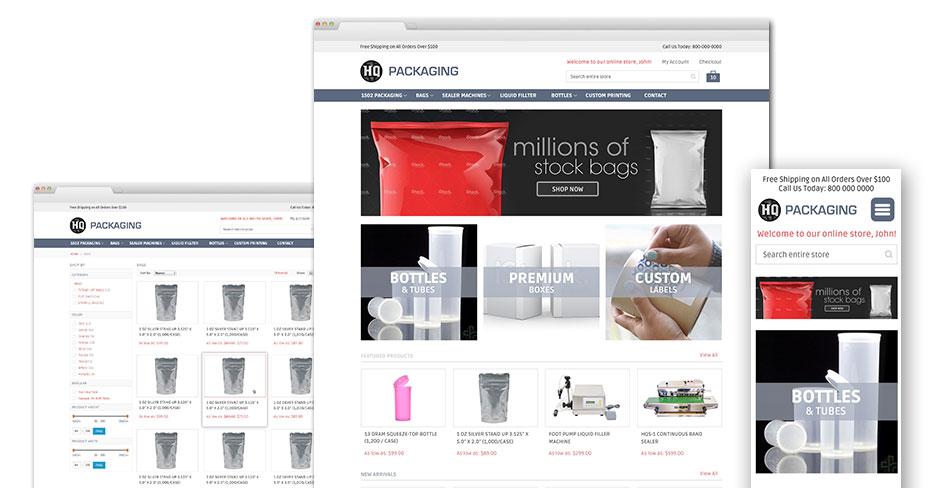 HQ Packaging Website Design