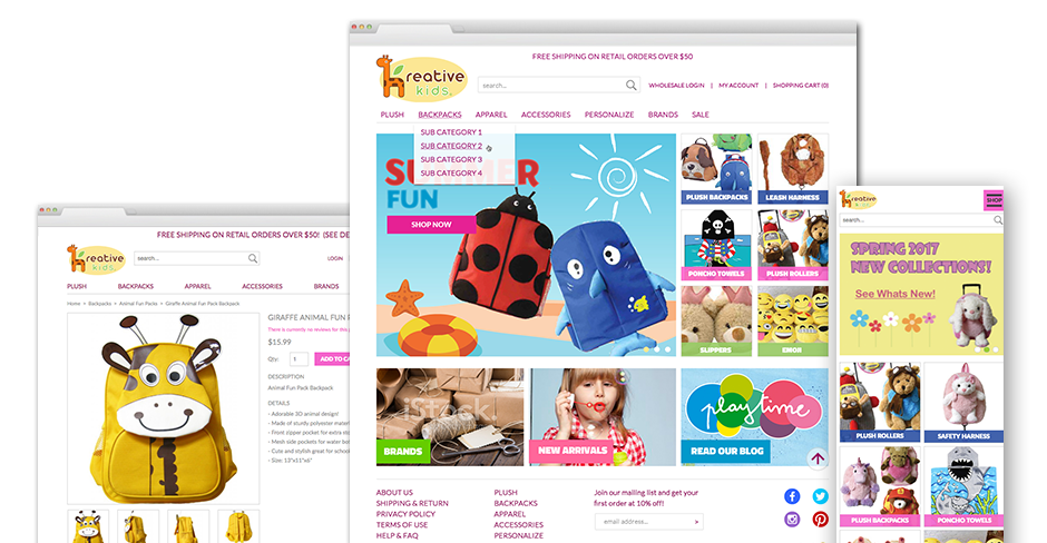 Kreative Kids Website