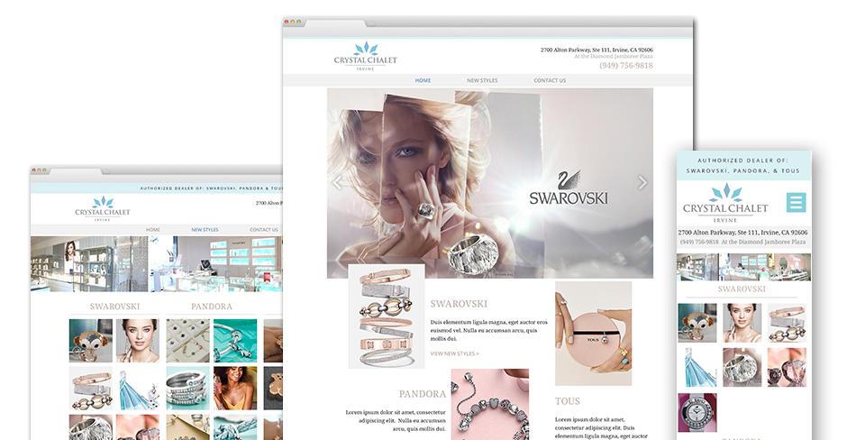 Crystal Chalet Website Design