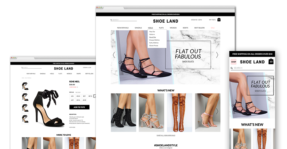 Shoe Land: Social Media & Search Marketing