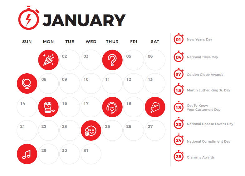 Your Ultimate Marketing Calendar for 2018