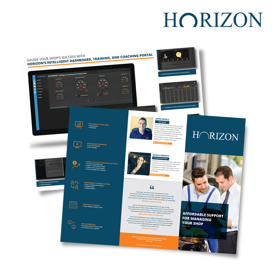 Horizon Trifold Brochure Design