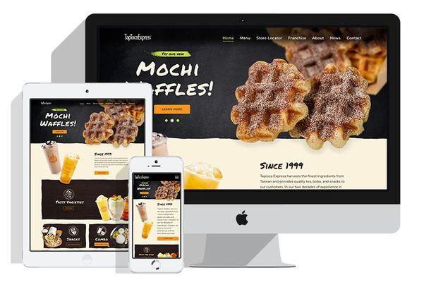 Tapioca Express Tea House Website Design